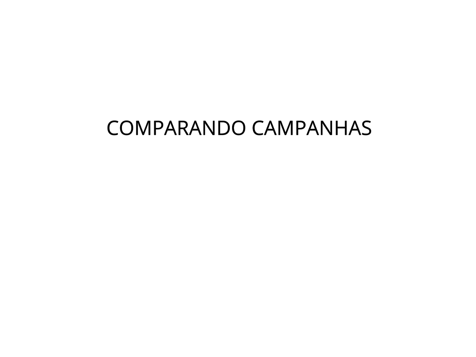 Comparando campanhas