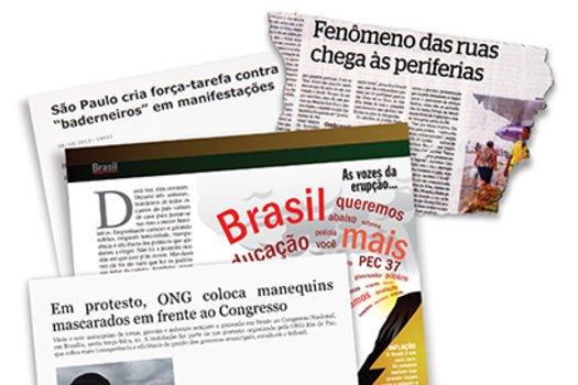 Brasileiros nas ruas. Reprodução/Agência Brasil/Diário de Pernambuco/O Estado de S. Paulo/Veja