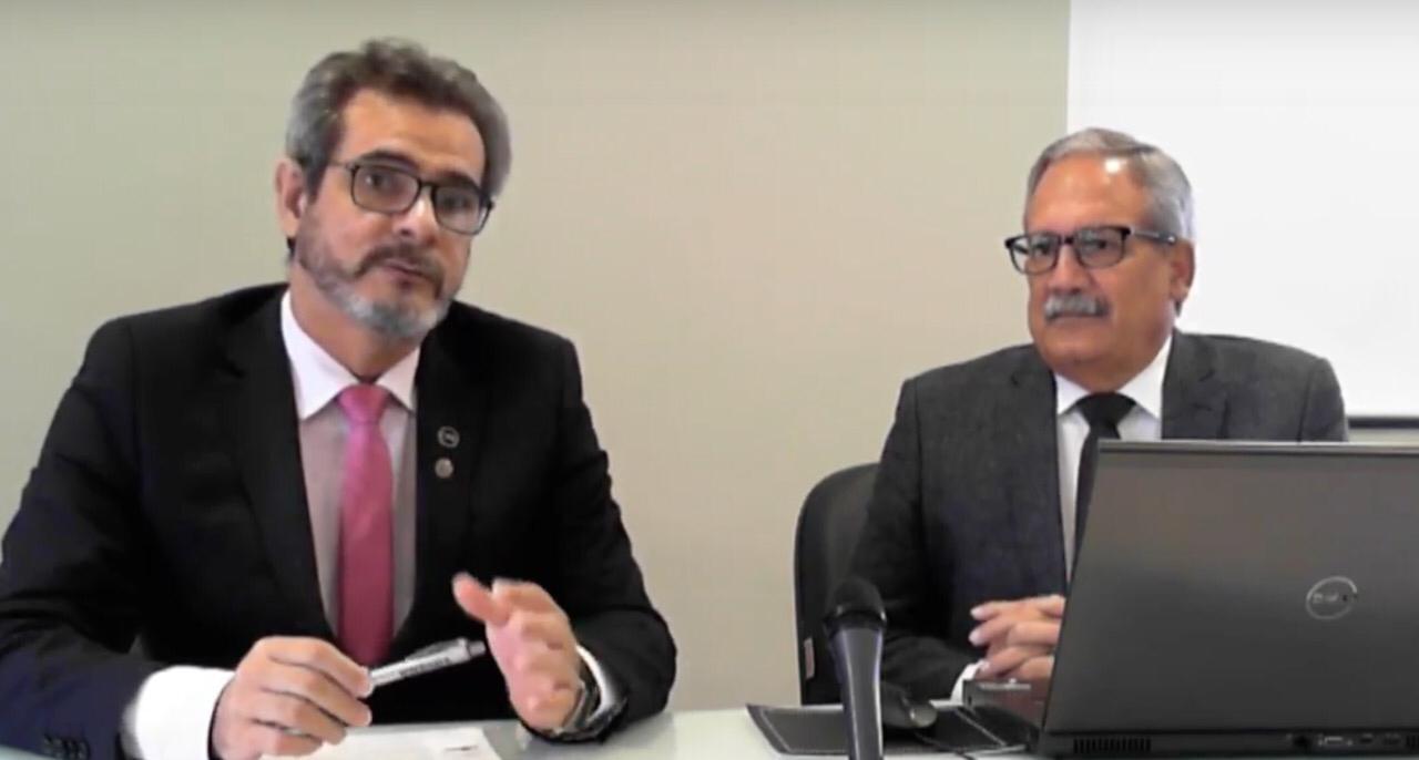 Alessio Costa Lima e Paulo Lira foram os participantes da videoconferência do Conviva sobre piso salarial
