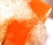 Sabonete com espuma. Foto: Antonio Rodrigues