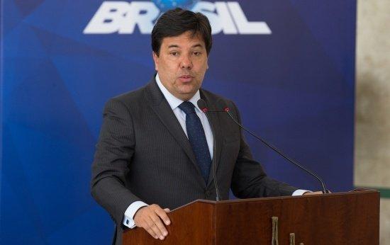 Ministro Mendonça Filho fazendo pronunciamento no lançamento da MP do Ensino Médio