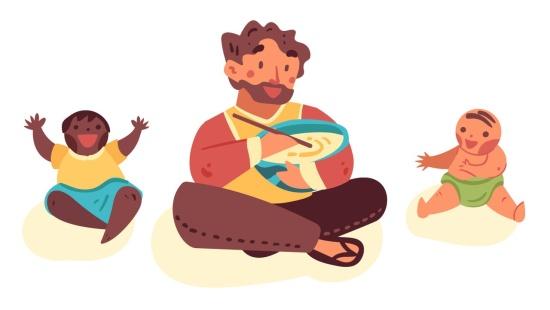 Receitas com as famílias dos bebês