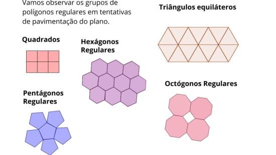 Ângulos em polígonos -  construindo mosaicos e ladrilhamentos