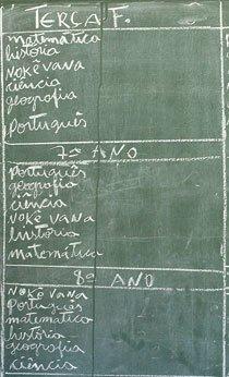 Para os katukinas, o português só aparece no 6º ano. Foto: Marina Piedade