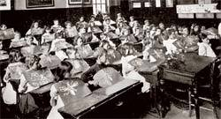 Escola britânica do fim do século 19: novidades da ciência influenciam uma nova mentalidade. Foto: Hulton Archive/Getty Images