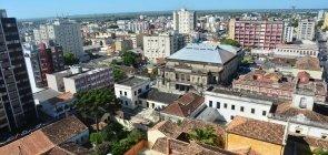 Vista aérea de Pelotas no Rio Grande do Sul