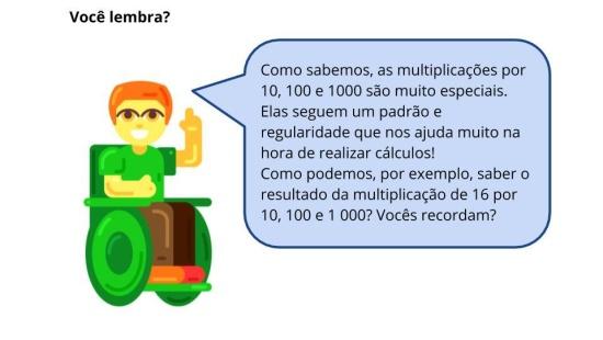 Criando estratégias para multiplicar com 10, 100 e 1 000
