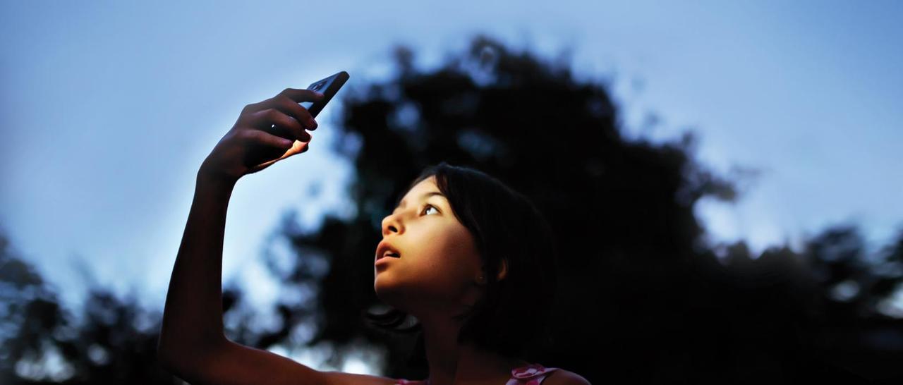 O céu no celular