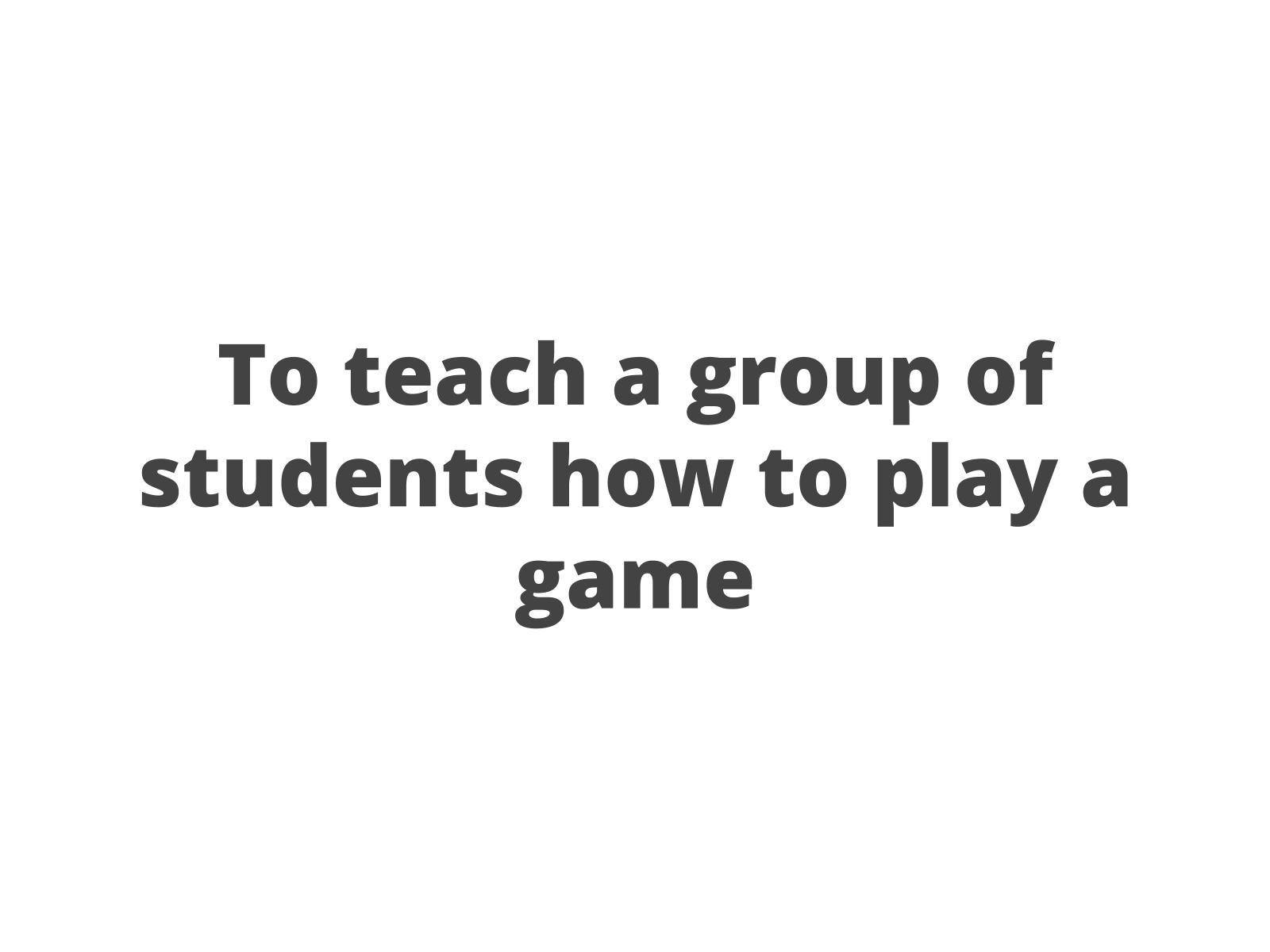 Conduzir uma atividade para outros alunos