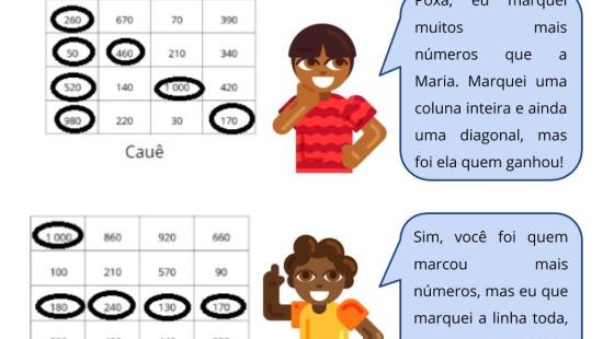 Bingo Mental com adições e subtrações