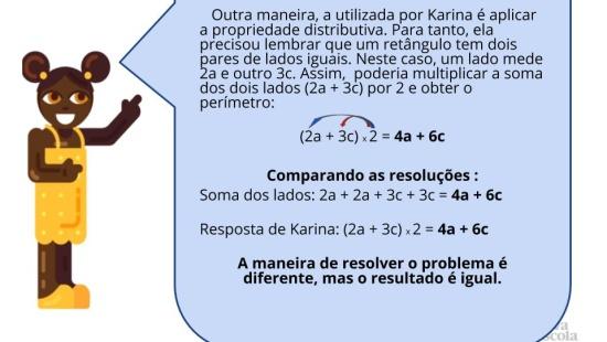 Figuras geométricas e a propriedade distributiva