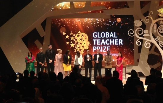 Cerimônia de premiação do Global Teacher Prize