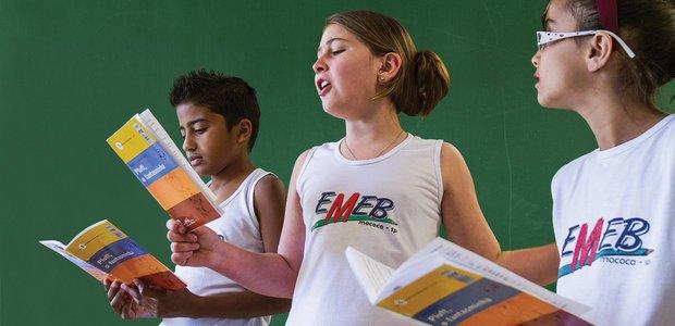 As crianças fizeram leituras dramáticas com muita atenção à entonação da voz. Foto: Joyce Cury