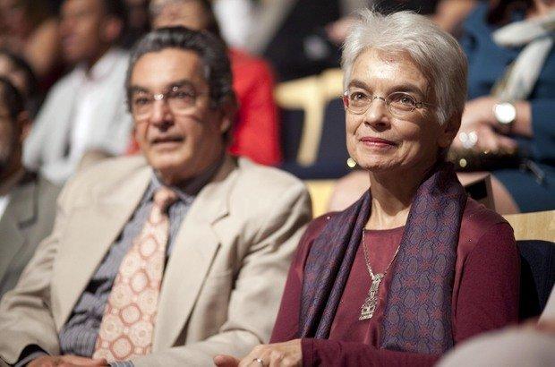 Nilson José Machado, professor da Faculdade de Educação da USP, e Maria Malta Campos, pesquisadora da Fundação Carlos Chagas (FCC), durante o Prêmio Victor Civita