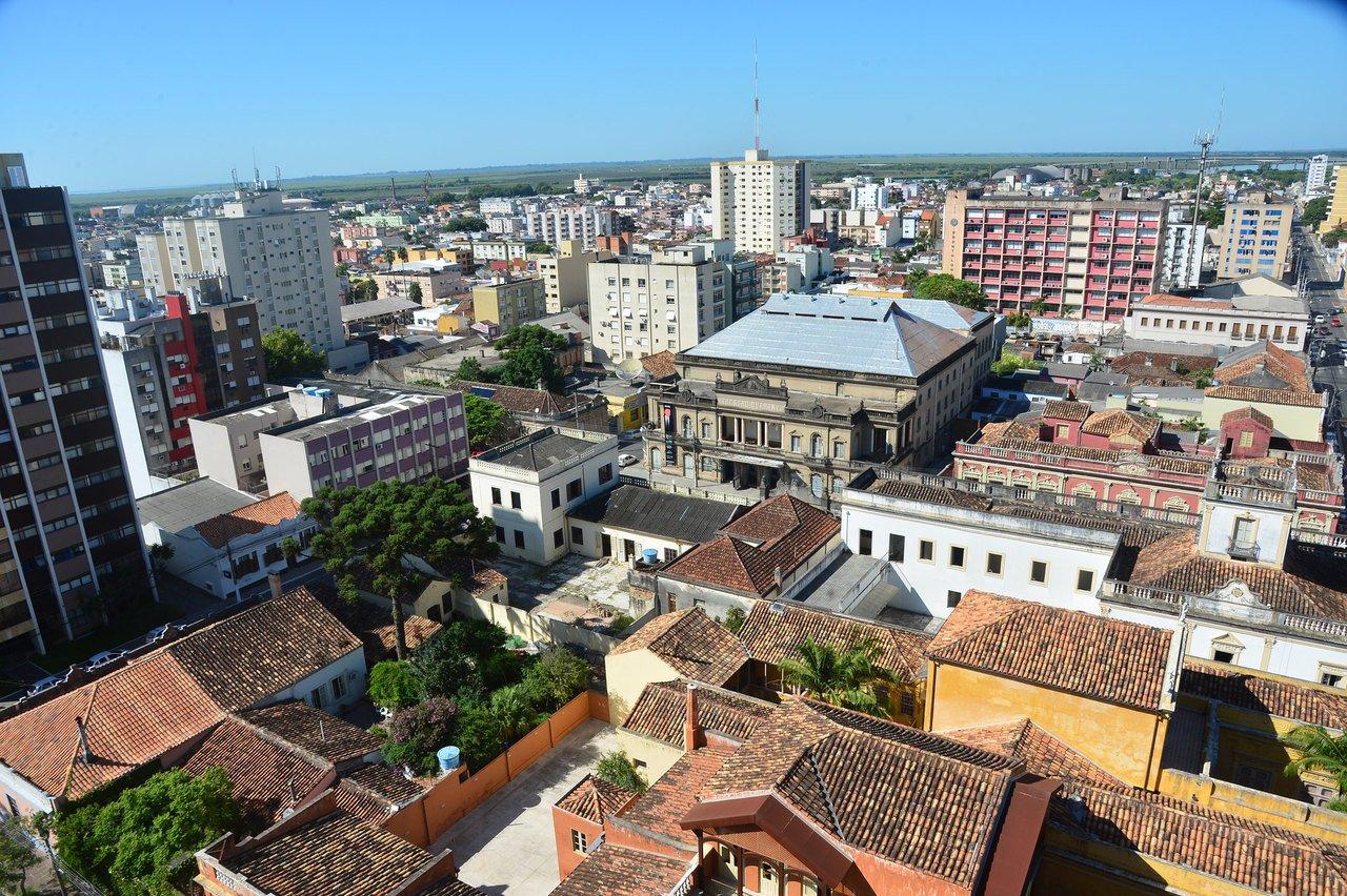 Vista aérea de Pelotas, no Rio Grande do Sul