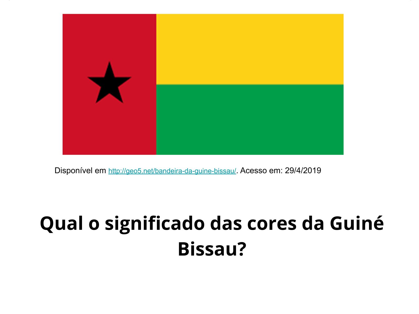 Guiné-Bissau: uma bandeira, uma luta