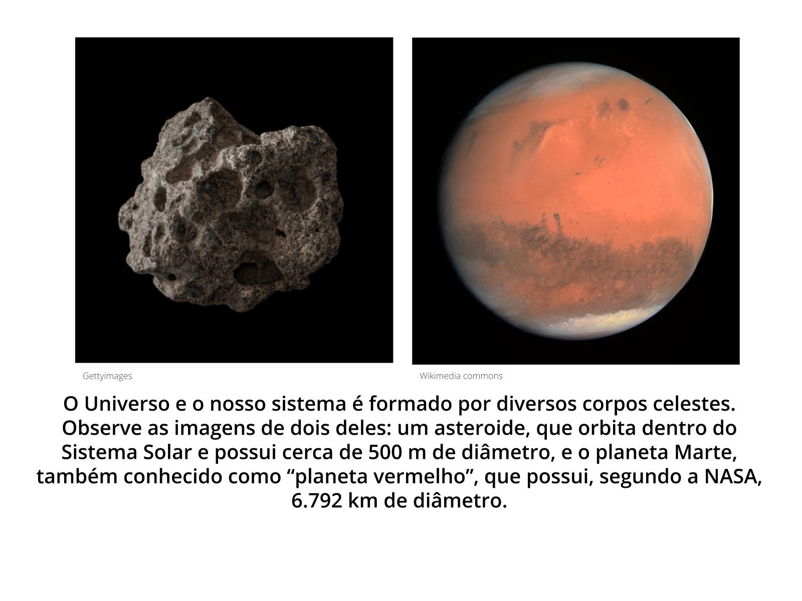 Satélites naturais e corpos celestes menores