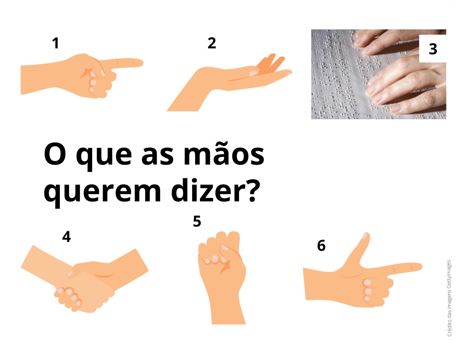 Falando com as mãos