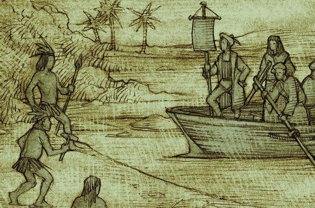 A turma identificou o choque de culturas entre os portugueses e os índios do Brasil, que viviam nus. Sandro Castelli