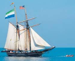 VIAGEM NO TEMPO Réplica do navio Amistad conta a saga de negros em busca de liberdade no século 19. Associated Press