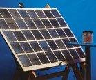 Painel solar: a energia luminosa é transformada em energia elétrica