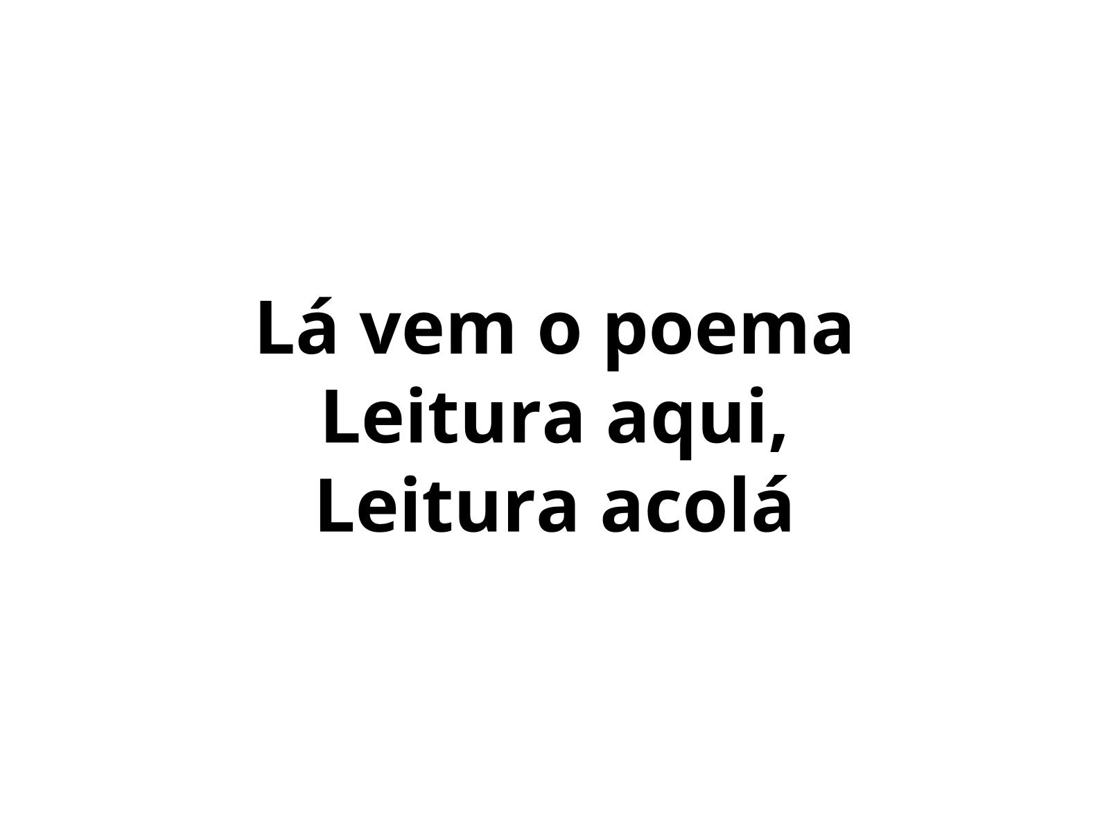 Leitura de poemas concretos e visuais