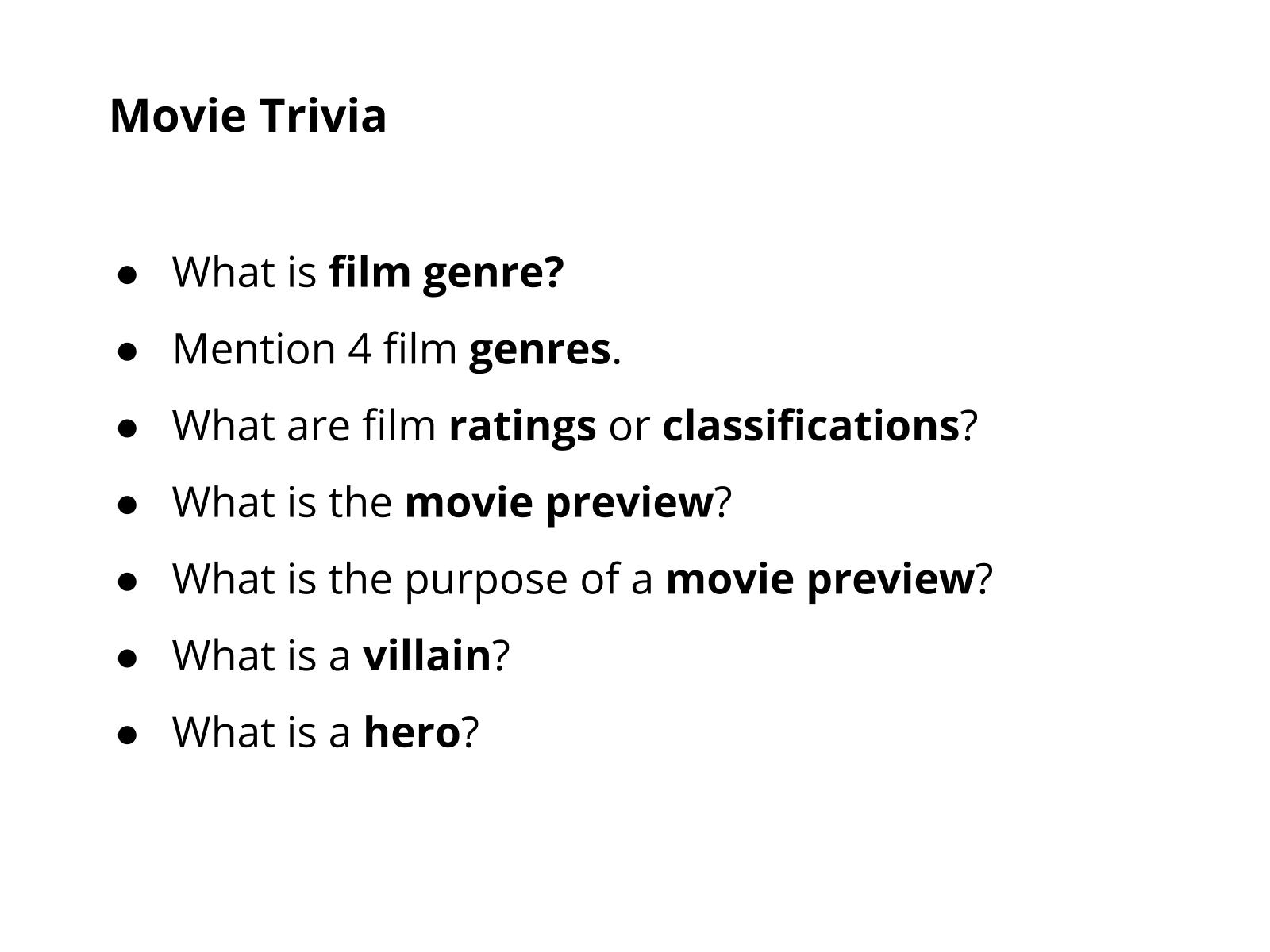 Sinopse de um filme