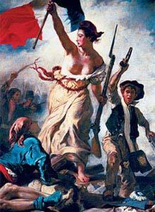 A Liberdade Conduzindo o Povo, de Delacroix: França exporta revolução