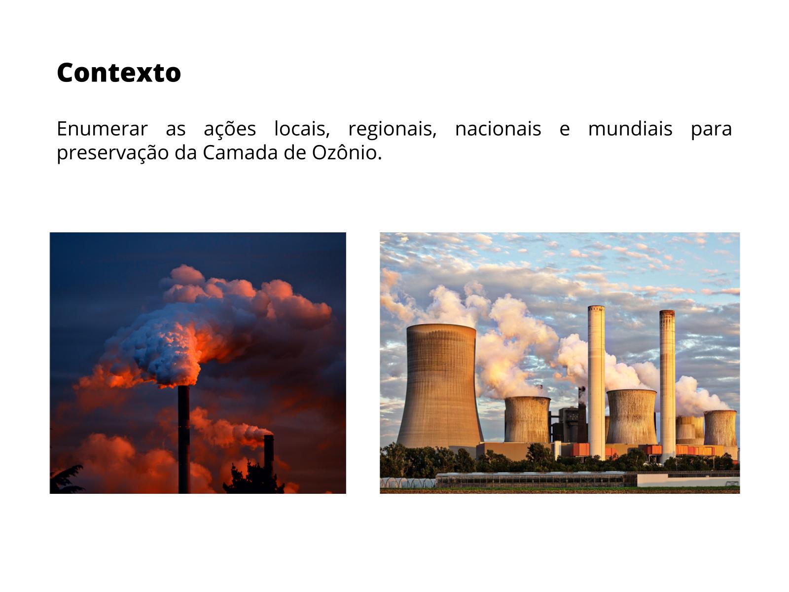 Ações para preservar a camada de Ozônio