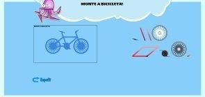 Monte uma bicicleta