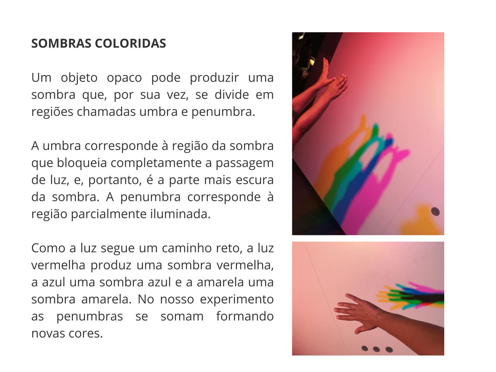 Sombras e luz colorida