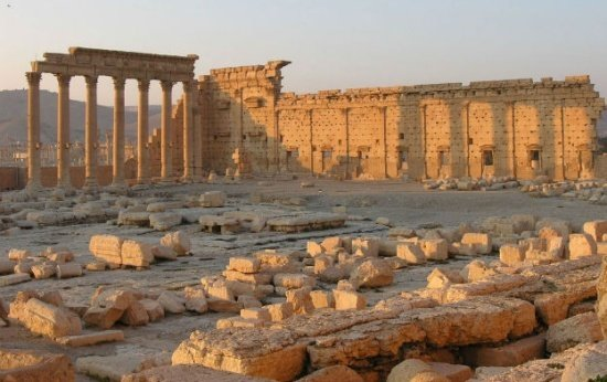 Construção histórica destruída na Síria