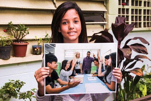 No grêmio escolar, Gabrielly é porta-voz das reivindicações de todos os estudantes. Fotos Manuela Novais