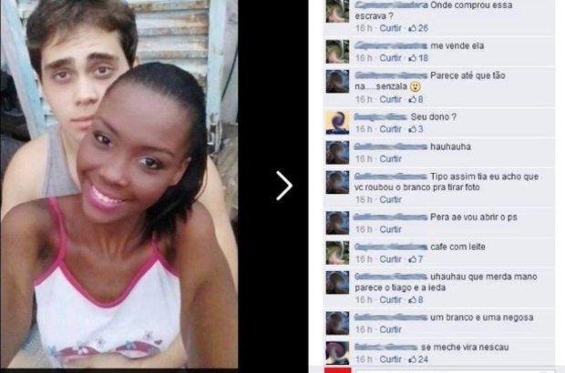 Racismo. Casal de Muriaé, MG. CRÉDITO: Reprodução Facebook