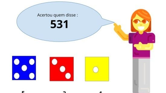 Formando e ordenando números com o dado