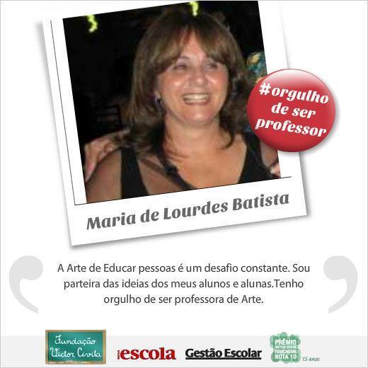 A professora Maria de Lourdes Batista