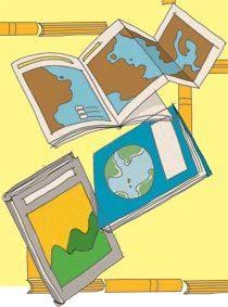 Geografia. Ilustração: Pedro Hamdan