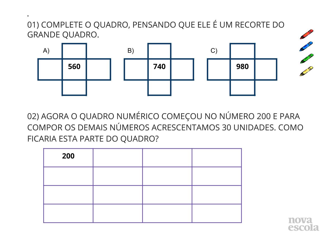 Plano De Aula 2º Ano Matemática Composição Com Quadro Numérico