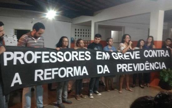 MANIFESTAÇÃO DE PROFESSORES NA CIDADE DE BARRA DO MENDES