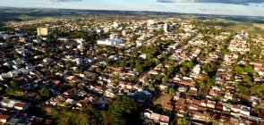 Vista aérea de Jandaia do Sul, no Paraná