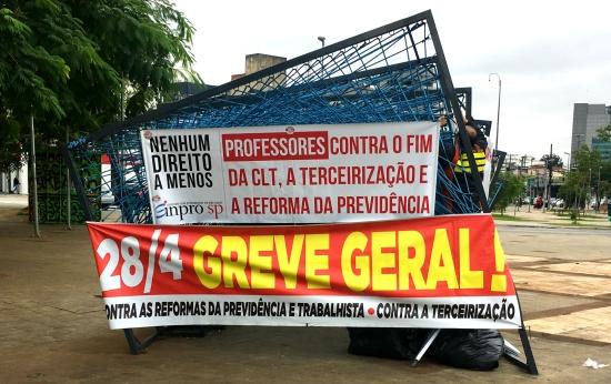 Acompanhe ao vivo o que acontece na greve geral por todo o Brasil