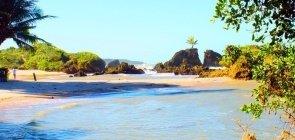 Vista de uma praia da cidade de Conde, na região metropolitana de João Pessoa, na Paraíba