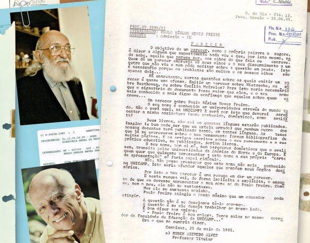 Dois mitos e um parecer. Arquivo Central /Siarq/Unicamp. Agradecimento: Daniel dos Santos Prado, Dedoc Editora Abril