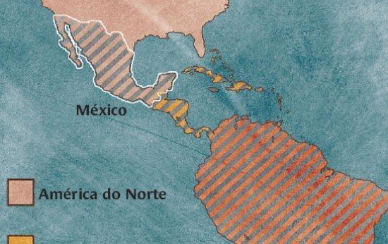 América do Norte e também da América Latina?