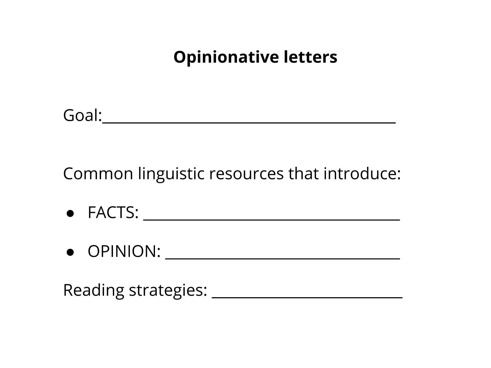 Carta opinativa