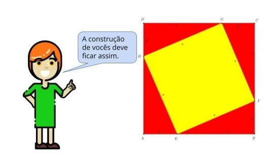 Recortando e Moldando o  Teorema de Pitágoras
