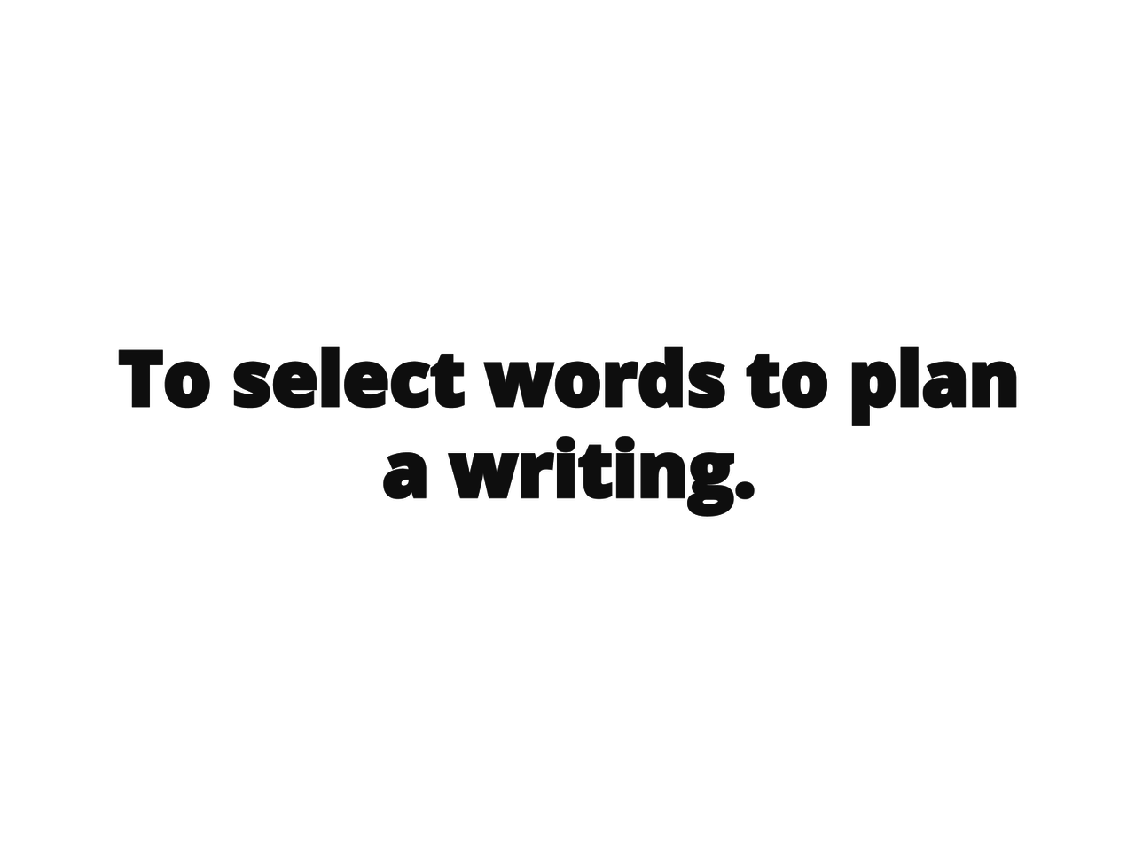 Seleção de palavras