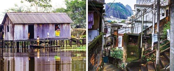 Palafitas e favelas. Fotos: Valdemir Cunha e Fernando Frazao