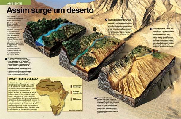 Infográfico Desertificação
