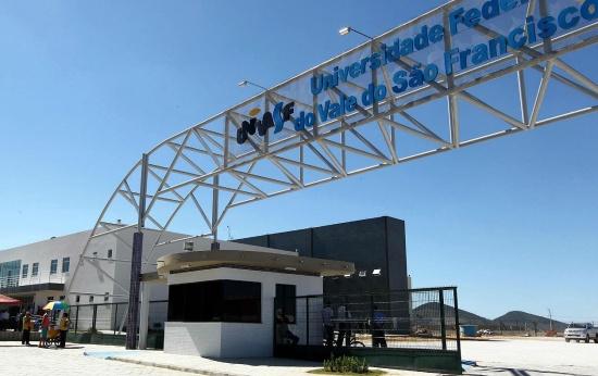 Portão de entrada da Univasf